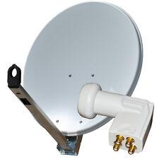 Sat Schüssel Gibertini Spiegel 75 - 80 cm Antenne ALU mit Quad LNB Full HD 0,1dB
