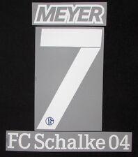 FC Schalke 04 Meyer Spieler Flock 25 cm für adidas Home Trikot 2016-2017