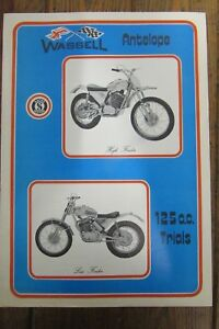 NOS SACHS WASSELL ANTELOPE 125cc TRIALS BROCHURE LEAFLET PAMPHLET