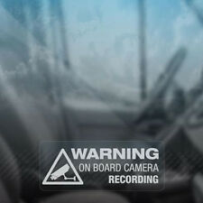 Warning On Board Camera Recording Car Window Truck Auto Vinyl Sticker Decor Gift