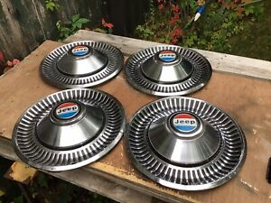 Hub Caps (One Set Of 4) For Jeep J Series 1970's/1980's