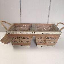 Rústico De Madera Dos Articulado Maceta / pot / caja de ventana