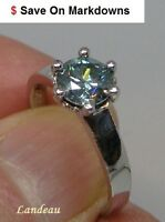 1.52 ct Light Blue Diamond Silver Ring