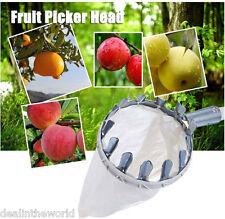 Fruit Picker Basket Apple Peach Pear Tree Grab Basket Picker Bag Picking Tool