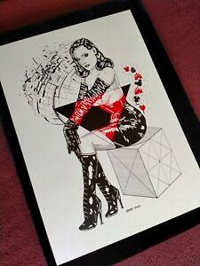 FEMDOM Dita Von Teese Original Erotic art. 100% hand-drawing by max.jiehuh!