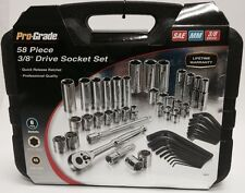 Allied Tools Pro-Grade 19311 SAE and Metric 3/8-Inch Drive, 58-Piece Tool Set