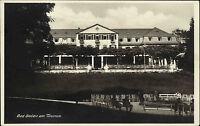 Bad Soden am Taunus Hessen alte Ansichtskarte ~1930 Partie am Kurhaus Veranda