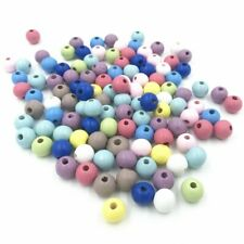 100pcs DIY Wooden Beads Loose beads Jewelry Making Pacifier clip 10mm