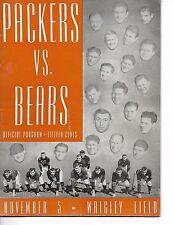 1944 Chicago Bears-Packers Program Bears Blank Pack BEAUTY!!