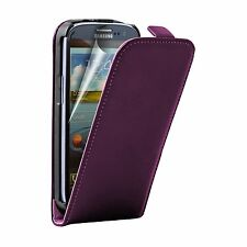 Ultra Slim PURPLE Leather Flip Case Cover Pouch For Samsung Galaxy i9301 S3 Neo