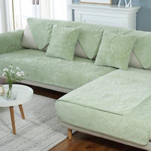 Thick Plush Sofa Cover Couch Towel Sofa Cushion Pillow L Corner Sofa Cover Towel