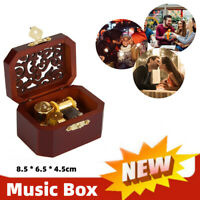COLLECTIBLE OCTAGON CARVING MUSIC BOX HOWLS MOVING CASTLE GIFT
