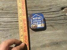 Kesters  Soldering Paste Tin Can, Vintage Advertising, Blue
