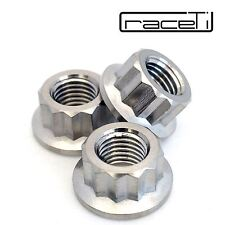 M10 x 1.25 Titanium Bi Hex Flange Nut 12 point Ti sprocket gr5 CNC Ducati 3 Pack