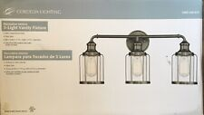 NEW 3-Light Vanity Fixture Satin Copper/Clear Glass #1003246673