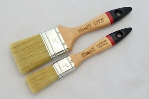 """1"""" and 2"""" Pure Bristle Paint Brushes Master Line, Quality Natural Long Bristles."""