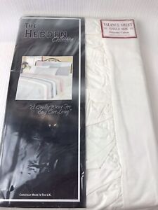 The Hebden Collection Single Valance Sheet New in Packaging Ivory Frilled W294