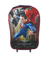 Official Licensed Batman VS Superman Wheeled Cabin Suitcase Hand Luggage Boys Navy