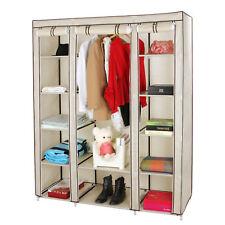 Mobiletto armadio cabina guardaroba appendiabiti In acciaio tessuto tnt con zip