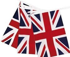 Team GB Massive 10 Metres 33ft Union Jack Fabric Flags Bunting