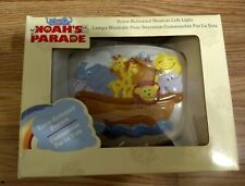 Nib Noah's Ark Parade Voice Cry Activated Musical Baby Crib Light New in Box