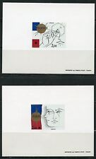 France Scott#1741/42 Phelexfrane Deluxe Souvenir Sheets On Card Plus As Issued