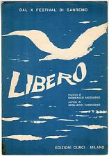 spartito musicale DOMENICO MODUGNO CURCI LIBERO 1960