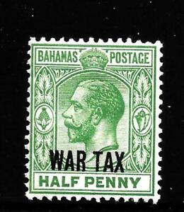 HICK GIRL-OLD MINT BAHAMAS WAR TAX SC#MR6  KING GEORGE V.   ISSUE 1918    X1492