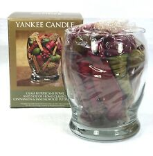 Yankee Candle Glass Hurricane Bowl With Scented Potpourri - New in Worn Box