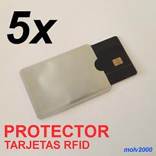 5x Funda Protectora tarjetas RFID anti copias anti fraude - RFID CARD PROTECTOR