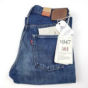Levi's LVC Big E 1947 501XX Jeans Selvedge USA Cone Denim 31x34 NEW