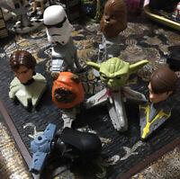 Lot Of 2008 Bobble Head Toy McDonald's Star Wars Clone Bobblehead Figures