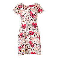 iBLUES MAX MARA Dress Pink Floral Cotton RRP £225 BG