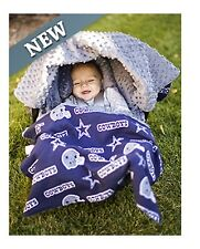 NFL Licensed 5pc Whole Caboodle ~ DALLAS COWBOYS ~ Infant Car Seat Canopy NEW!
