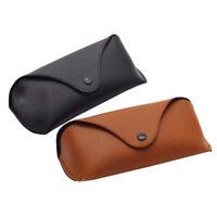 Soft Leather Glasses Bag Sunglasses Eyeglasses Holder Protector Storage Box Case