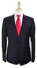 * DOLCE & GABBANA * Current Model Black Pinstripe Slim Fit Wool Suit 42R