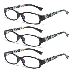 3 Pack Blue Light Blocking Reading Glasses Spring Hinges Readers +1.0 ~4.0 B895