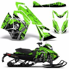 Decal Graphic Wrap Kit Ski Doo Sled Snowmobile REV XS Renegade MXZ 13+ REAP GRN