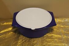New UNIQUE Tupperware Large Tortilla Keeper Server Dark Blue/Purple Color