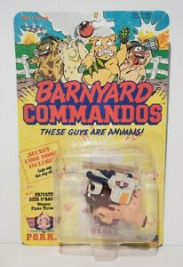Barnyard Commandos Private Side O' Bacon Playmates Vintage 1989 MOC Rare