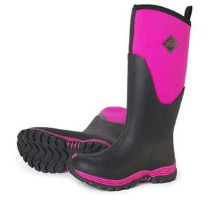 NEW MUCK WOMENS ARCTIC SPORT II TALL BOOT BLACK/PINK AS2T-400 FREE SHIPPING
