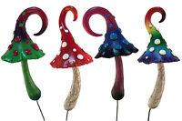 Fairy Garden Miniature Mushroom Figurine Collection - 4 Piece Set