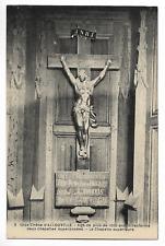 """CPA """" Gros Chêne d' ALLOUVILLE - Agé de plus de 1000 ans il renferme 2 chapelles"""