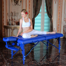 Master Massage 31 inch Extra Wide Montclair Portable Reiki Table Imperial Blue