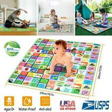 Baby Play Mat - Large Double Sides Non-Slip Waterproof For Playing Crawling New