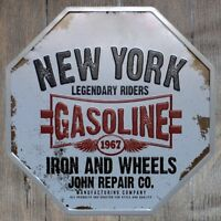 Metal Tin Sign new york legendary riders Bar Pub Vintage Retro Poster Cafe ART