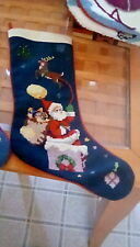 Imperial Elegance Needlepoint Lot of 3 Christmas Stockings Various Themes