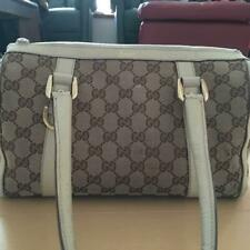 Authentic Gucci Handbag Mini Boston GG Canvas Monogram USED Women Purse G0206