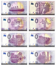 Irish Commemorative 0 Euro Limited Edition Souvenir Banknote 8 Notes Collection