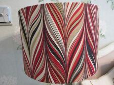 Handmade Lampshade 30cm Drum Schumacher Firenze Red Flame Stitch fabric
